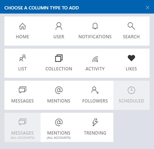 how to add columns in tweeten